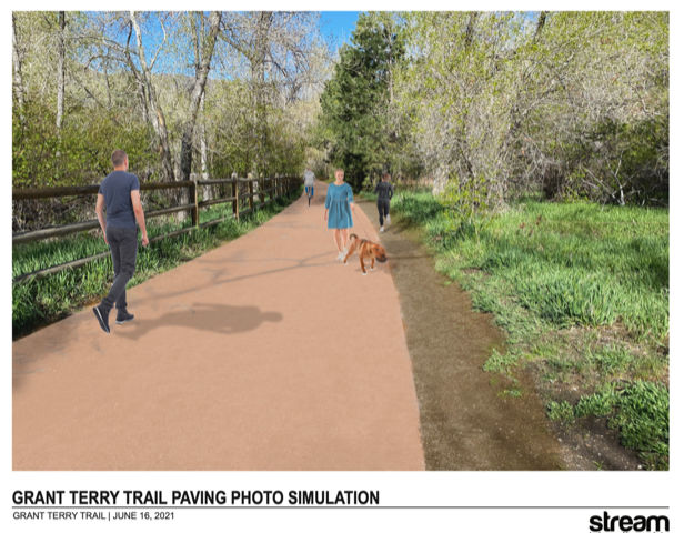 Grant Terry trail clear creek paving illustration